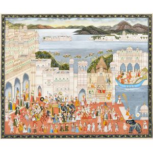 Painting of a Royal Procession