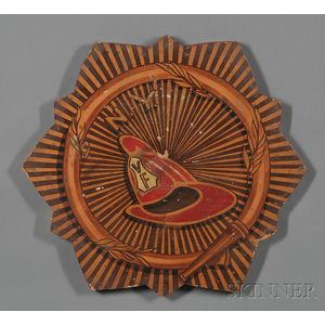 Painted New York Fire Department Plaque