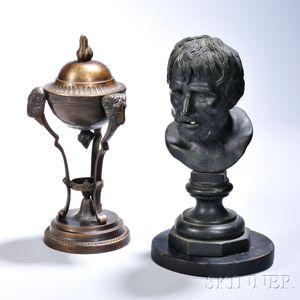 Grand Tour Bronze Figure and Cassolette/Censor