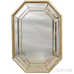 Octagonal Venetian Glass Mirror