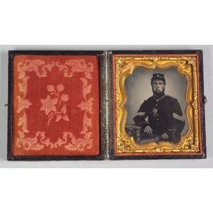 Civil War Ambrotype of a Union Sergeant