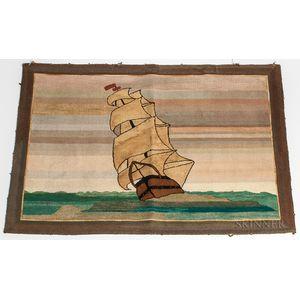 Sailing Ship Hooked Mat