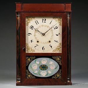 Eli Terry & Sons Mahogany Transitional Box Clock