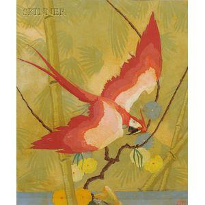 Stark Davis (American, 1885-1950)      Red Macaw