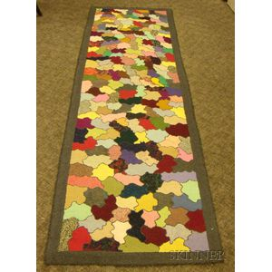 Stained Glass Pattern Hooked Runner