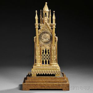 Louis Philippe Cathedral Shelf Clock