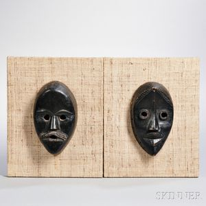 Two Dan Carved Wood Masks