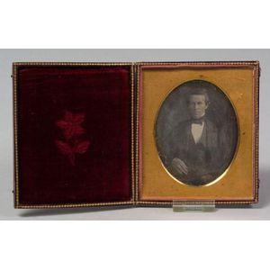 Half-Plate Daguerreotype Portrait of a Gentleman