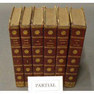 Twenty-three Volume Leatherbound Set of Sir Walter Scotts