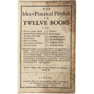 Jonstonus, Joannes (1603-1675) The Idea of Practical Physick in Twelve Books.