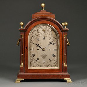 Dent Mahogany Table Clock