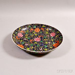 Enameled Porcelain Charger