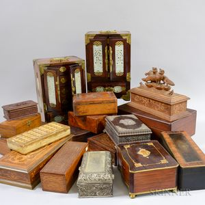 Group of Wooden Trinket Boxes