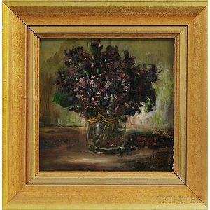Hermann Fricke (German, 1887-1966)      Violets.
