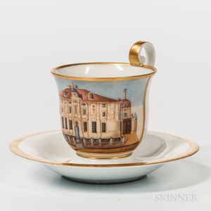 Meissen Topographic Cup and Saucer