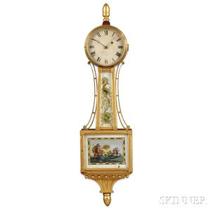 "Alfred H. Huntington Patent Timepiece or ""Banjo"" Clock"