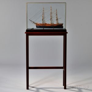 Scratch-built Ship Model of the Young America