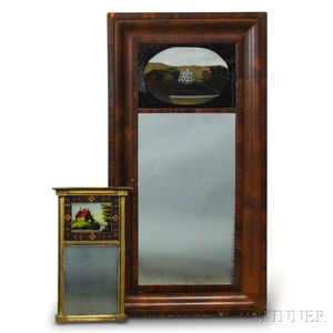 Two Federal Mirrors with Reverse-painted Tablets