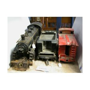 Buddy L Outdoor Locomotive, Tender and Caboose | Sale Number