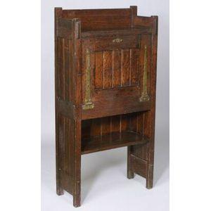 Arts & Crafts Oak Drop-front Desk