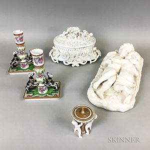 Five Continental Porcelain Items