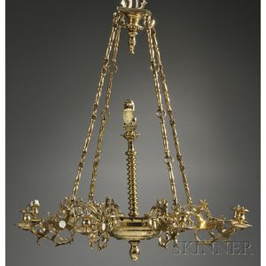 Brass Sabbath Lamp Chandelier