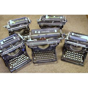 Six Underwood Typewriters.