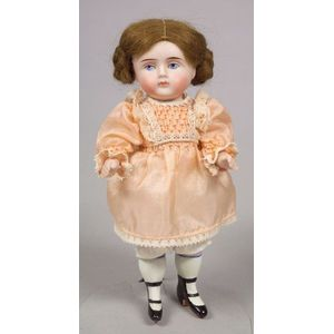 Large All-Bisque Girl Doll