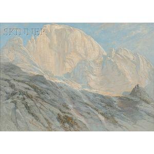 James David Smillie (American, 1833-1909)      Half Dome, Yosemite, 1871