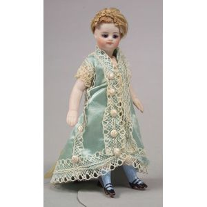 French-type Swivel-neck All-Bisque Girl Doll