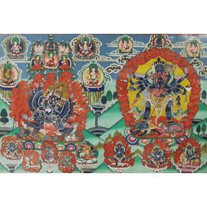 Hindu Tantric Painting on Silk