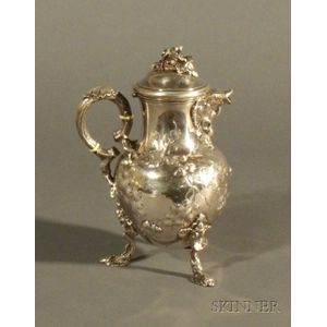 Jones, Ball & Co. Coin Silver Hot Water Pot