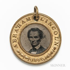 Abraham Lincoln/Hannibal Hamlin Campaign Pendant