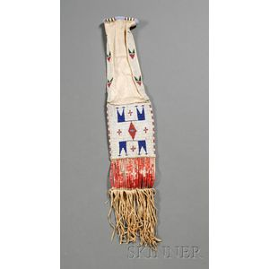 Central Plains Beaded Hide Pipebag