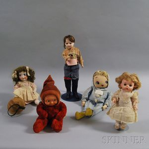 Five Assorted Dolls
