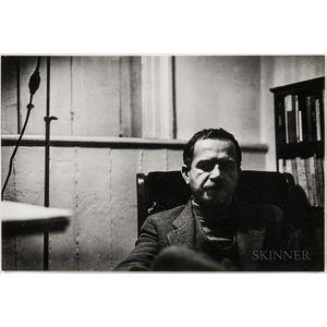 Walker Evans (American, 1903-1975)       Portrait of Ben Shahn at 23 Bethune Street Apartment, New York