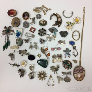 Large Group of Brooches