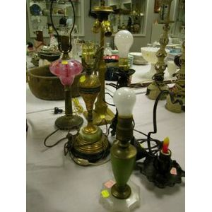 Six Assorted Table Lamp Bases