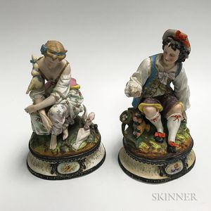 Pair of Continental Bisque Figures