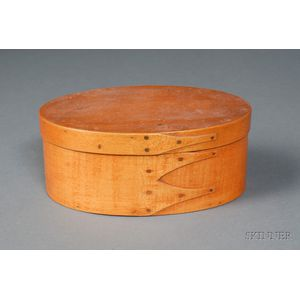 Shaker Oval Covered Storage Box