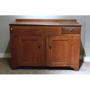 Country Pine Lidded Dry Sink