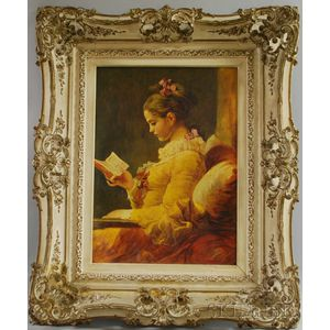 Editions Braun & Cie. (French, 19th/20th Century), After Jean-Honoré Fragonard      (French, 1732-1806)   Jeune Fille Lisant