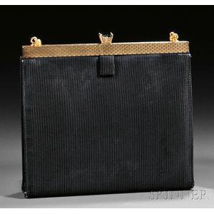 14kt Gold, Green Tourmaline, and Faille Evening Bag, Cartier