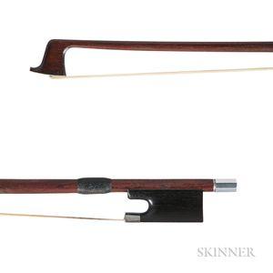 English Silver-mounted Violin Bow, Arthur Scarbrow, 1927
