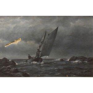 American School, 19th Century      The Fisherman