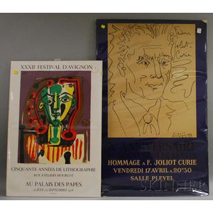 Two Exhibition Posters, Mourlot and Curie