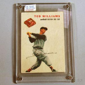1954 Wilson Franks Ted Williams Baseball Card.     Estimate $600-800