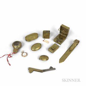 Nine Brass Items