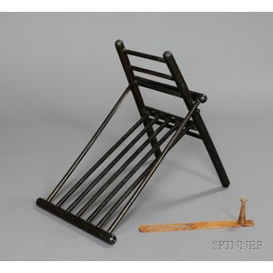 Shaker Maple Folding Foot-rest and Peg Rack Extender