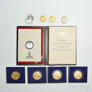 Nine Commemorative Medals and Coins